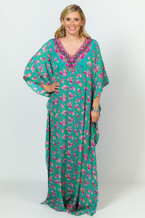 Clara Embellished Kaftan - Long