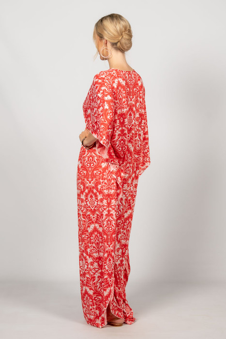 Keira Maxi Dress - Red Graphic