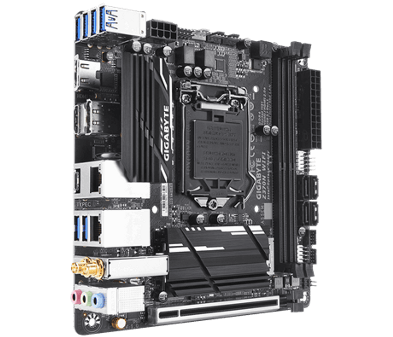 Gigabyte Z370N WiFi - Ultra Durable Motherboard with HDMI 2 0a 21:9 / HDR,  PCIe bifurcation support, Intel USB 3 1 Gen1 with USB Type-C, Dual Intel