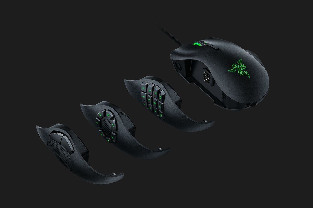 2679071404f Razer Naga Trinity - Multi-color Wired MMO Gaming Mouse - MediaForm AU