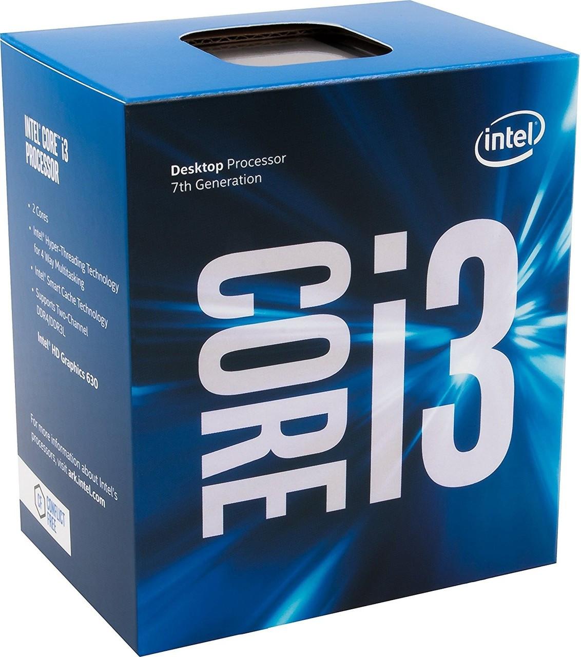INTEL i3-7100 CPU (3MB Cache, 3 90 GHz), LGA1151 2Cores/4Threads  (BX80677I37100)