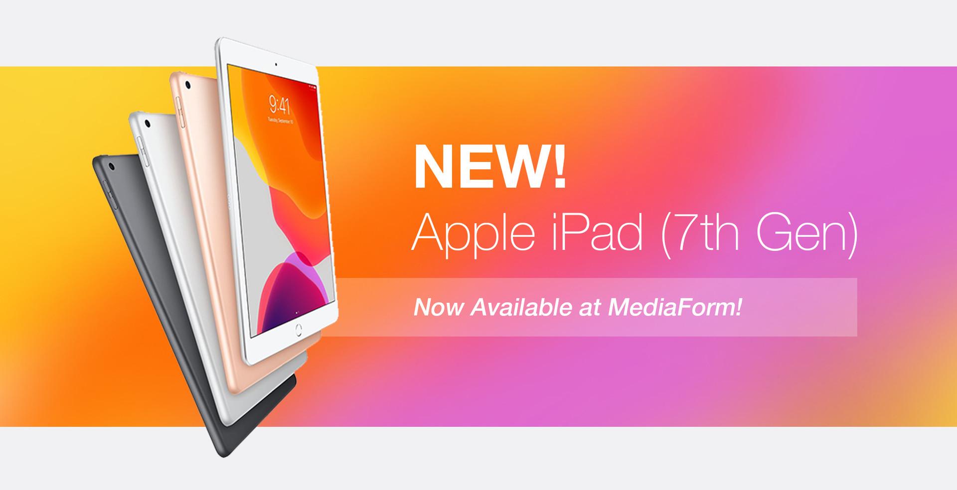New! Apple iPad (7th Gen)