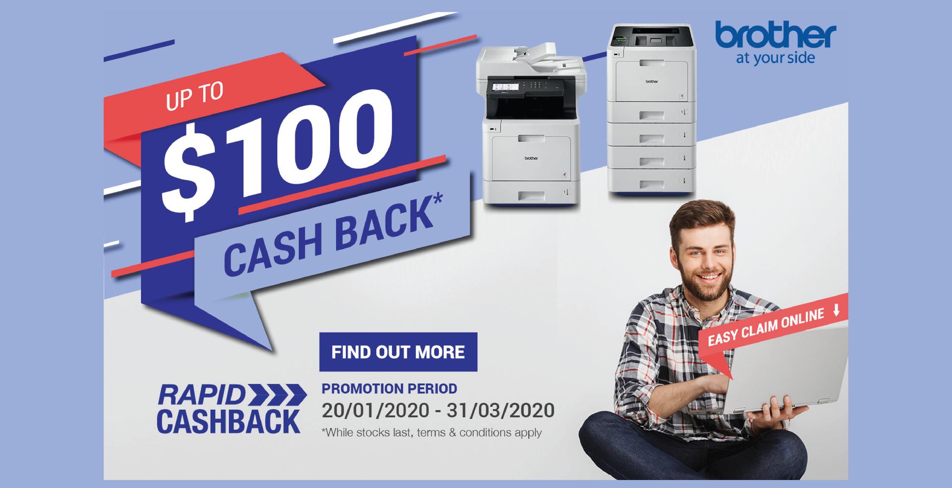 Brother $100 Rapid Cash Back