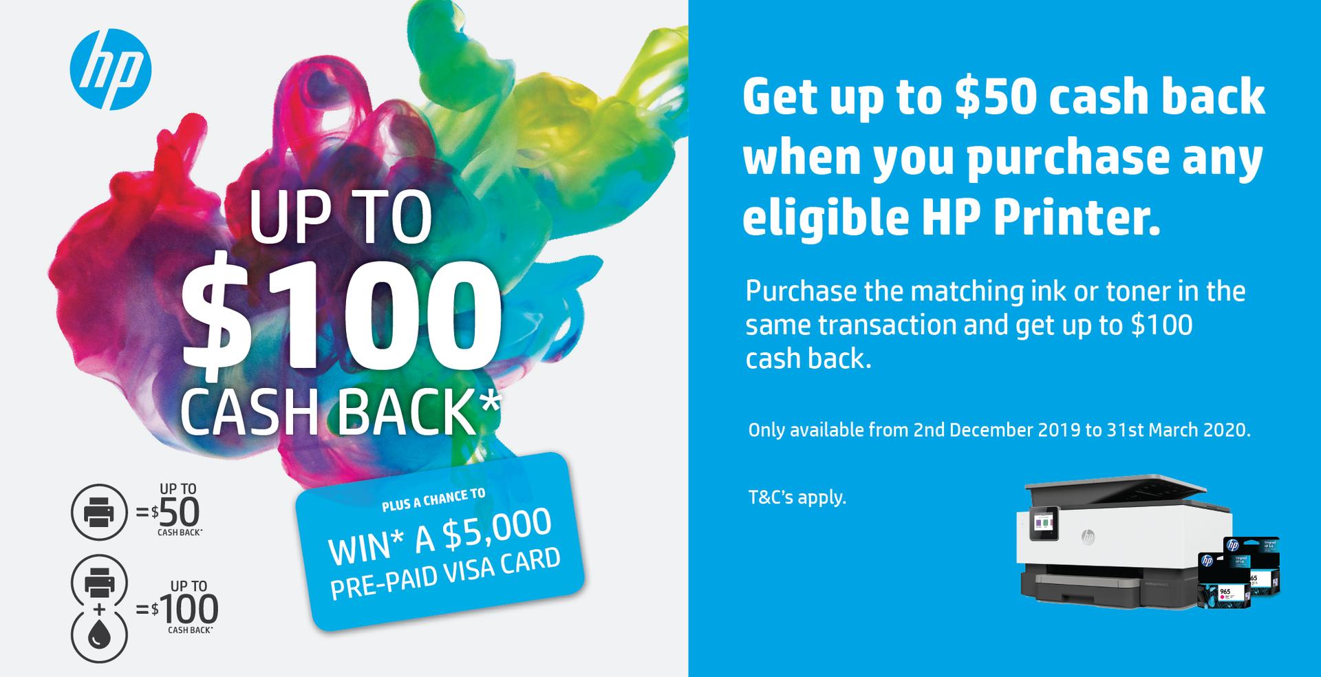 HP Back to School Cash Back Promotion