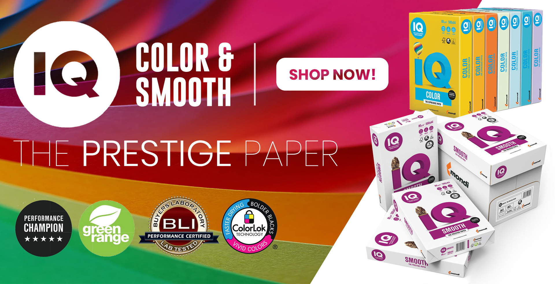 IQ Smooth & Color Paper - Now in Stock