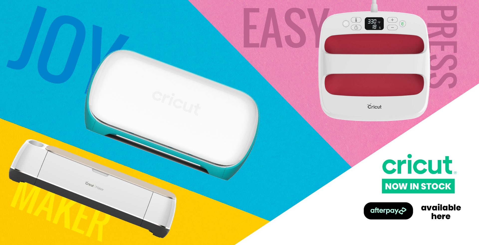The Bestselling Cricut Machines are available at MediaForm with Afterpay!