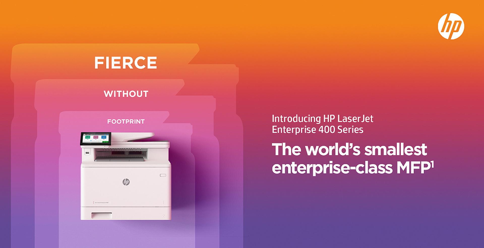 Fierce without Footprint: New HP LaserJet Enterprise 400 Series
