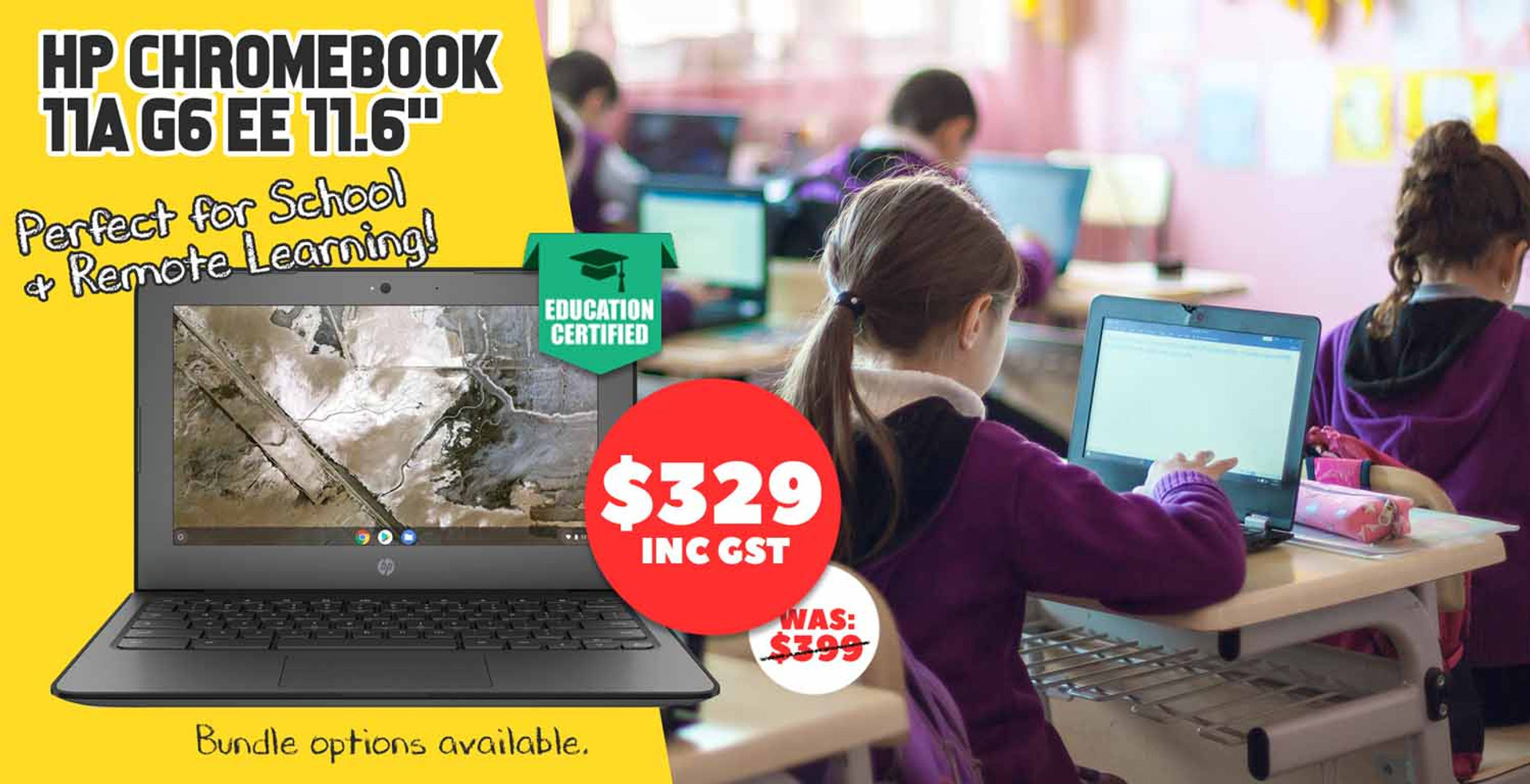 Get the HP Chromebook 11A: Perfect for School & Remote Learning!