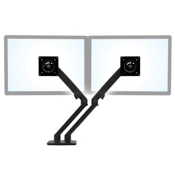 Ergotron MXV Desk Dual Monitor Arm Matte - Black