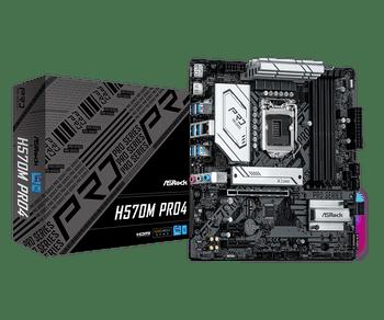Intel H570,10th Gen Intel Core Processors and 11th Gen Intel Core,4 x DDR4 DIMM Slots,  4 x SATA3 6.0 Gb/s
