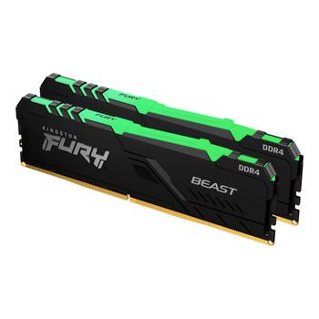 32GB 3200MHz DDR4 CL16 DIMM (Kit of 2) 1Gx8 FURY Beast RGB