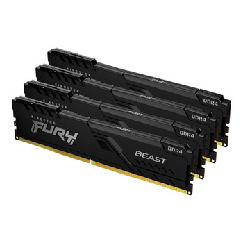 64GB 3200MHz DDR4 CL16 DIMM (Kit of 4) 1Gx8 FURY Beast Black