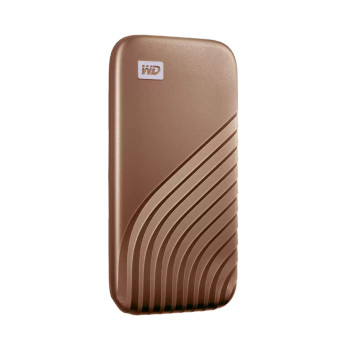 WD My Passport SSD, 1TB, Gold color, USB 3.2 Gen-2, Type C & Type A compatible, 1050MB/s (Read) and 1000MB/s (Write)