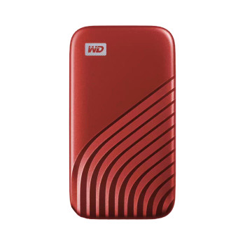 WD My Passport SSD, 2TB, Red color, USB 3.2 Gen-2, Type C & Type A compatible, 1050MB/s (Read) and 1000MB/s (Write)
