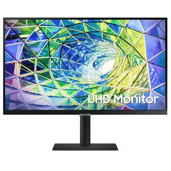 "Samsung (S8U) 27"" UHD 4K IPS LED (16:9) Monitor, 3840x2160, 5ms, Dp, Hdmi, H/adj, Usb-c, Vesa, 3yr"