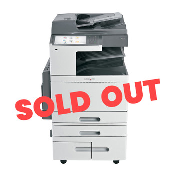 Lexmark X954de 55ppm A3 Colour Multifunction Laser Printer + Base + 4 Trays - 2520-Sheet Tandem Tray Module (Second Hand - Used) (22Z0122-RE+BASE+4T(TANDEM)