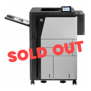 HP LaserJet Enterprise M806x+ 56ppm A3 Mono Laser Printer + Trays + Base (Second Hand - Used)