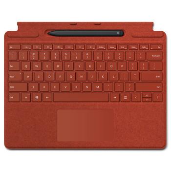 Surface Pro X R Signature Type Cover & Slim Pen Bundle - Poppy Red