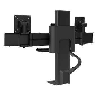 Ergortron Trace Dual Monitors Panel Clamp Matte