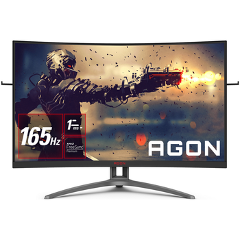 """AOC AG323FCXE/75 31.5"""" Curved FHD 1ms 165hz Gaming Monitor"""