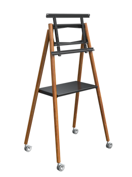 Commbox Mobile Easel W/ Rack, Tilt Angle of up to 12 Degrees, for up to 65, Black