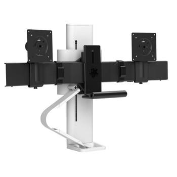 Ergotron Trace Dual Monitors Panel Clamp Bright