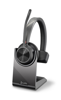Poly Voyager 4310 UC, V4310 Mono W/ Bt700 USB-A, Stand, Bluetooth Wireless Headset - Cert Ms