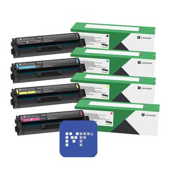 Lexmark 20N30 Toner Bundle (includes 20N30K0, 20N30C0, 20N30Y0, 20N30M0)