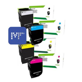 Lexmark 70C8HE Corporate Toner Bundle (includes 70C8HKE, 70C8HCE, 70C8HYE, 70C8HME)