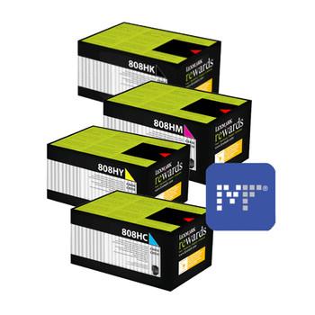 Lexmark 80C8HE Corporate Toner Bundle (includes 80C8HKE, 80C8HCE, 80C8HYE, 80C8HME)