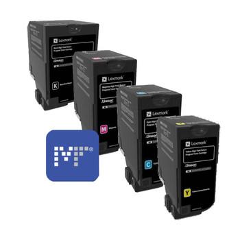 Lexmark 84C6H Toner Bundle (includes 84C6HK0, 84C6HC0, 84C6HY0, 84C6HM0)