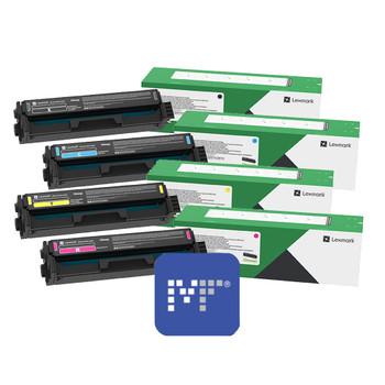 Lexmark C333H Toner Bundle (includes C333HK0, C333HC0, C333HY0, C333HM0)