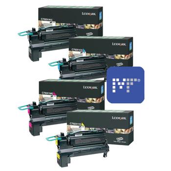 Lexmark C792X Toner Bundle (includes C792X1KG, C792X1CG, C792X1YG, C792X1MG)