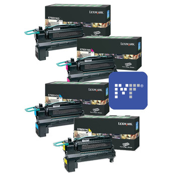 Lexmark X792X Toner Bundle (included X792X1KG, X792X1CG, X792X1YG, X792X1MG)