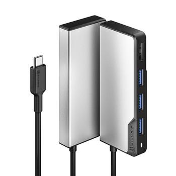 ALOGIC USB-C 5-in-1 FUSION HDMI & USB Hub 1 x HDMI@4K@30Hz, 3 x USB-A (USB3.0) 1 x USB-C (USB 3.1 Data Only) - Space Grey