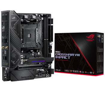ASUS AMD AM4 X570 Mini-DTX enthusiast gaming motherboard with an SO-DIMM.2 card (dual M.2), Wi-Fi 6 (802.11 ax), PCIe 4.0, SupremeFX audio