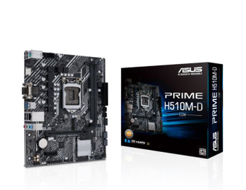 Intel H510 (LGA 1200) micro ATX motherboard with PCIe 4.0, 32Gbps M.2 slot, Intel 1 Gb Ethernet, HDMI, D-Sub, USB 3.2 Gen 1 Type-A, SATA 6 Gbps, COM