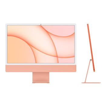 CTO 24-inch iMac with Retina 4.5K display/Orange/M1 8 core CPU, 8 core GPU/8GB/256GB SSD storage/8 core GPU/Magic KB w Touch/Magic Mouse/