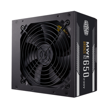 Cooler Master Mwe 650w 80plus Bronze V2 230v, Black Flat Cable, 1x Eps, 2x Pci-e, 120mm Fa