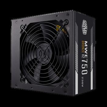 Cooler Master Mwe 750w 80plus Bronze V2 230v, Black Flat Cable, 2x Eps, 4x Pci-e, 120mm Hd