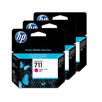 HP 711 3 Pack 29ml Magenta Ink Cartridge (CZ135A)
