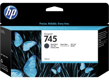 HP 745 130ml Matte Black DesignJet Ink Cartridge (F9J99A)