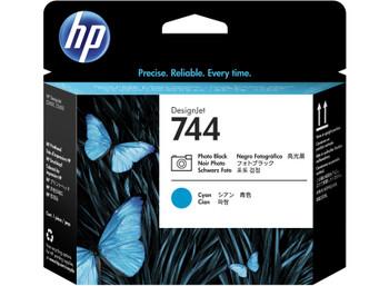 HP 744 Photo Black & Cyan DesignJet Printhead (F9J86A)