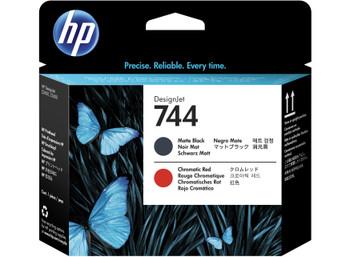 HP 744 Matte Black & Chromatic Red DesignJet Printhead (F9J88A)