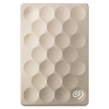 "Seagate Backup Plus Ultra Slim Portable 2.5"" 2TB Hard Drive (Gold)"