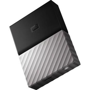 WD My Passport Ultra 4TB USB 3.0 Portable Storage with Metal Finish - Black/Grey