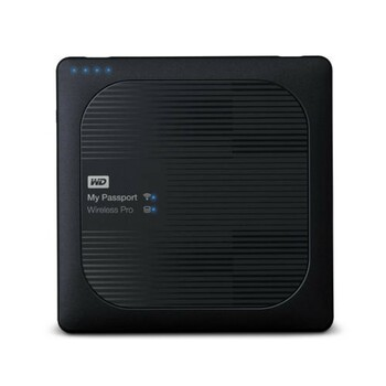 WD My Passport Wireless Pro 4TB Wi-Fi Mobile Storage, USB 3.0, Wireless AC, SD Card slot, PowerBank - Black