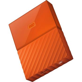 WD My Passport 4TB USB 3.0 Portable Hard Drive - Orange