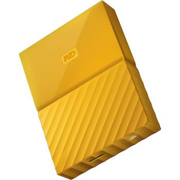 WD My Passport 4TB USB 3.0 Portable Hard Drive - Yellow