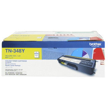 Brother TN-348Y Toner Cartridge Yellow - 6,000 Pages